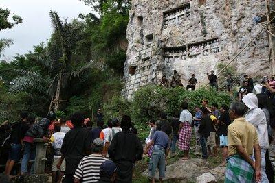 Toraja cliff funeral