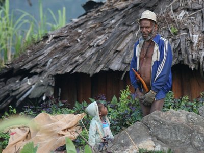 Evenings get chilly in Papua highlands
