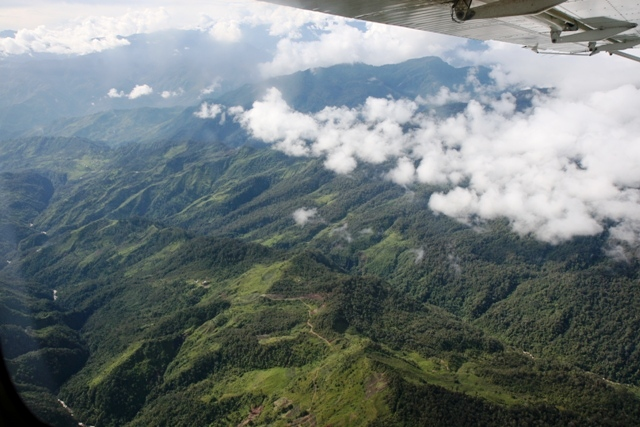 Flying back to Wamena