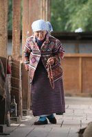 Old lady in Bumthang