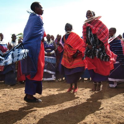Maasai Women&#39;s Jumping Ceremony