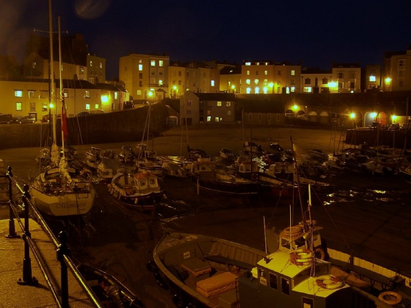 Tenby Harbour at Night