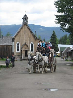 Barkerville - this is a restored historic gold rush town from 1862