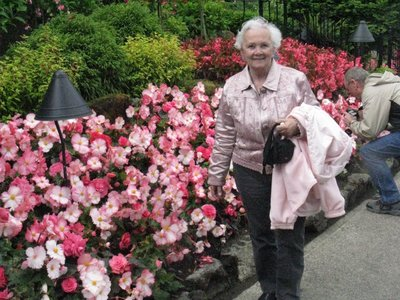 Diane at Butchart Gardens in Victoria, BC...this is the best that we have seen!