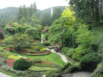 Sunken Garden at Butchart Garden in Victoria, BC