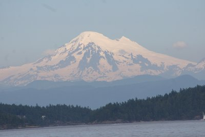 Mt Baker is seen from Bellingham, WA...it is 10,781 feet high