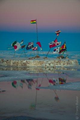 International Flags on Solar de Uyuni