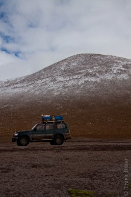 Jeep and a Mountain