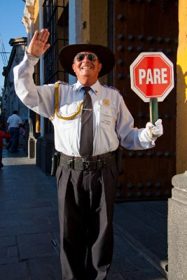 Over-the-Top Tourist Policeman (Hillarious!!)