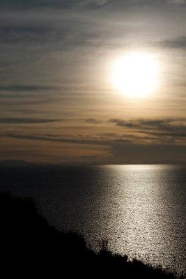 Sun over Lake Titicaca