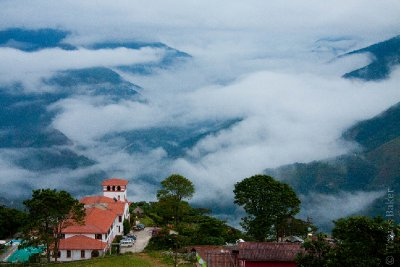 View of Yungas from Hotel in Early Morning