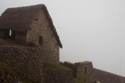 Machu Picchu buildings in the Clouds
