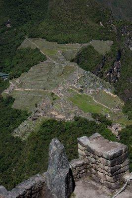 View of Machu Picchu from Summit of Waynu Picchu
