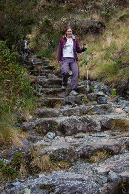 Ali walking the Inca Trail
