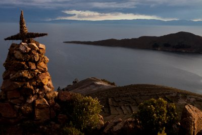 Offering to Pachamama on Isla del Sol