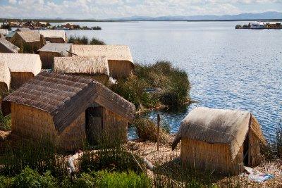 Houses on Isla Uros