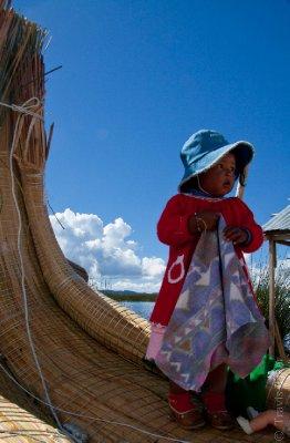 Child on Isla Uros