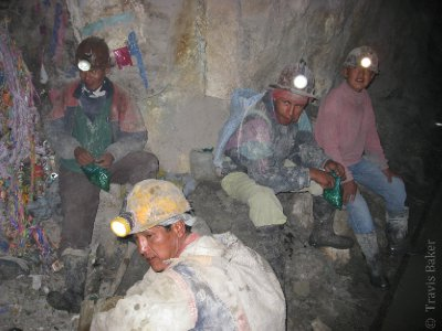 Miners Eating Coca