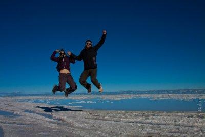 Jumping on the Salt Flats