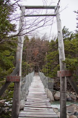 A rickety bridge