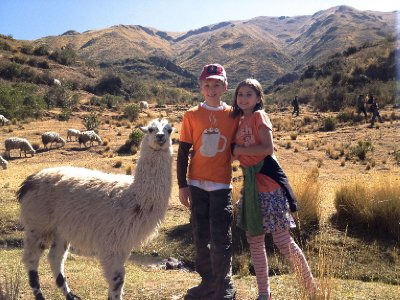 Alex & Leah with Llama