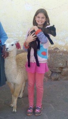 Leah with Llamas