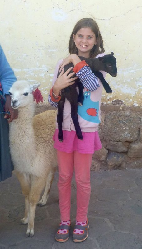 Leah with Llamas