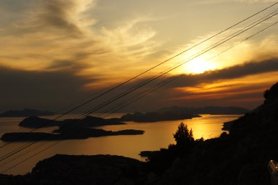 Sunset from Srd Hill, Dubrovnik