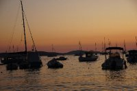 Hvar Harbour Sunset