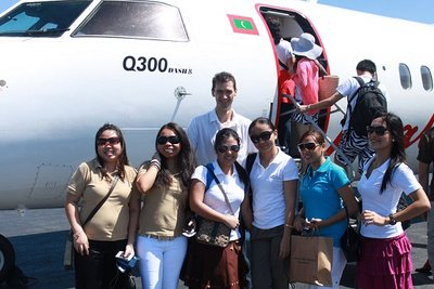AP Team with Eugene Feklistov - Dir. of Sales & Mktg ready for boarding to Kaadedhdhoo airport