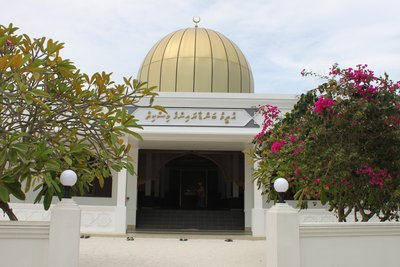 Entrance of the Mosque in Utheemu Island