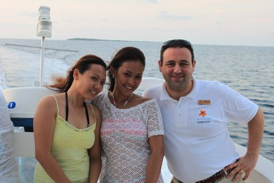 Katrina and Neecy with Metin in the Hideaway Princess Yacht_1