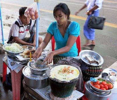 Yangon street vendor
