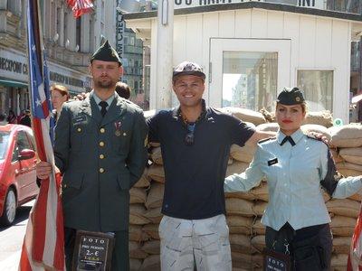 Micka at Checkpoint Charlie