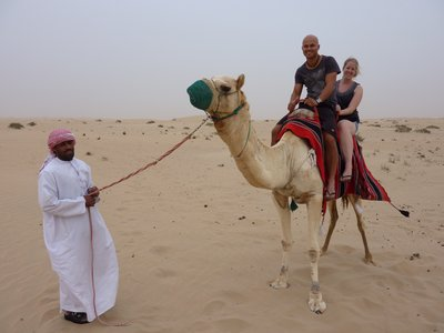 a very bumpy camel ride!