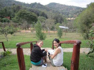 Melissa and I at the Usambara's - view from our hotel room