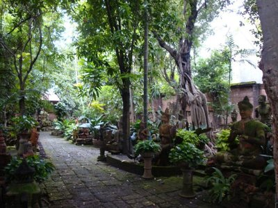 A beautiful statue garden we found in the old city