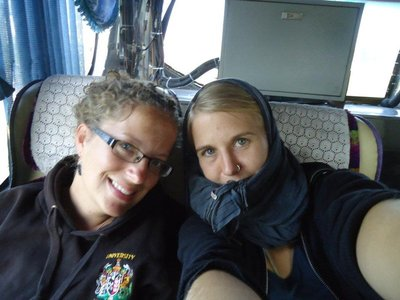 One of our many bus journeys!
