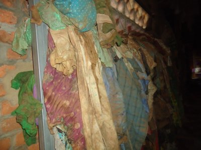 The clothes left by the dead.. Apologies for the shocking photo..
