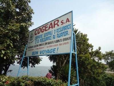 A sign as you leave Rwanda to go to the Congo boarder