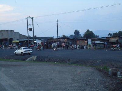 The border into uganda
