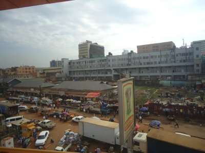 Kampala from our hotel room