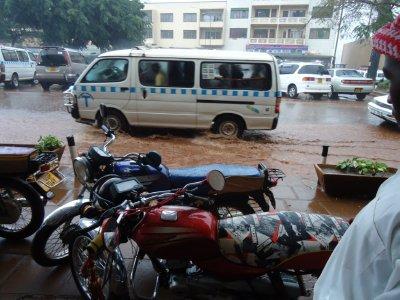 The crazy rain shower in Kampala