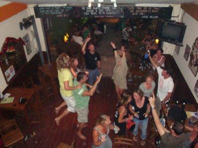 Partying at the Irish
