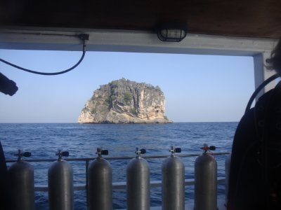 A view from the boat of Koh Haaaaaa