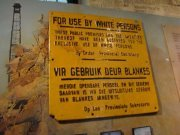One of the signs at the district six museum