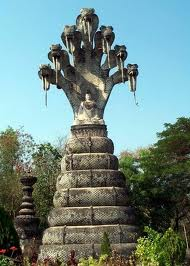 The seven storey serpent statue