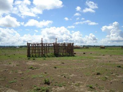 process of building a mud hut