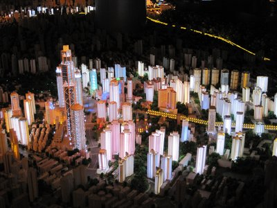 Model of Shanghai at Night at the Urban Planning Museum