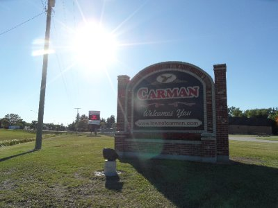 Carman Welcomes You Sign, Manitoba